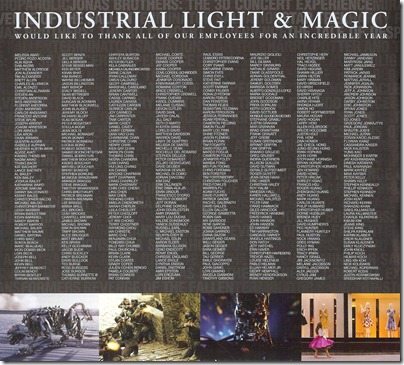 Cinefex ILM Credits Page 1