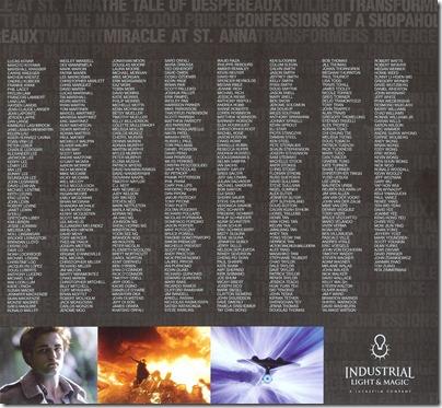 Cinefex ILM Credits Page 2